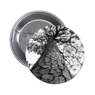Tall Tree BW 6 Cm Round Badge