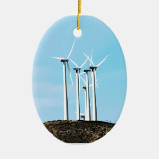 Tall Turbines Christmas Ornament
