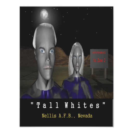 tall whites aliens poster Nellis AFB