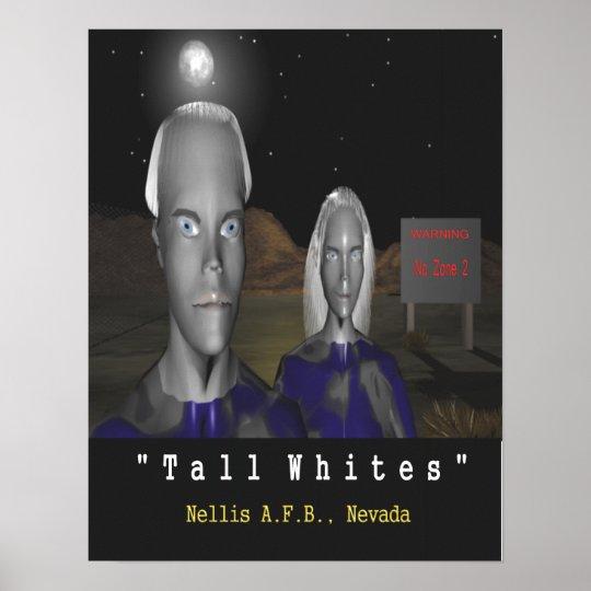 tall whites aliens poster Nellis AFB