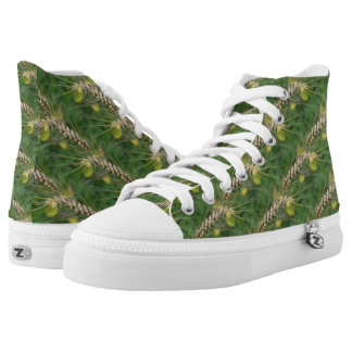 Tall Wild Grass Nature Pattern Printed Shoes