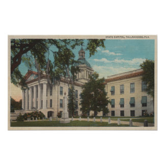 Tallahassee, Florida - Exterior View of State Print