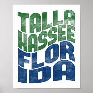 Tallahassee Florida Poster City State Art Print