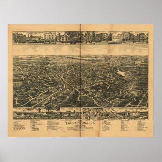 Tallapoosa Georgia 1892 Antique Panoramic Map Posters