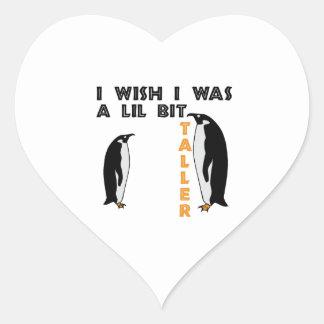 Taller Penguin Heart Sticker