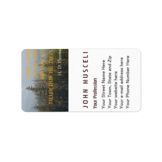 Taller than the Trees, Henry David Thoreau suite Address Label