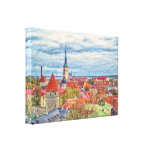 Tallinn Estonia by Shawna Mac Stretched Canvas Print