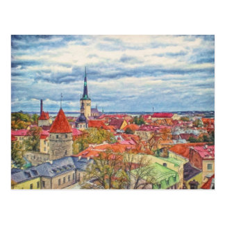Tallinn Estonia by Shawna Mac Postcard