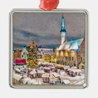 Tallinn Estonia Christmas Market Christmas Ornament