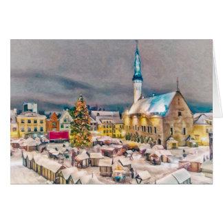 Tallinn Estonia Christmas Market Greeting Card
