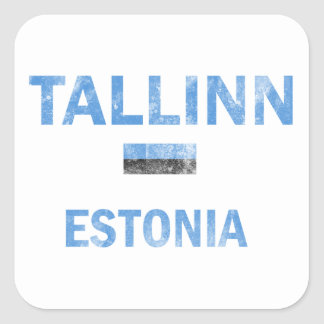 Tallinn Estonia Designs Square Sticker