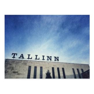 Tallinn train station postcard