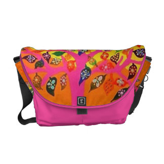 Tallis Tefillin CarryAll Bag Pink Tree Of Life Messenger Bag