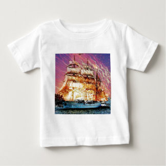 tallship and fireworks baby T-Shirt