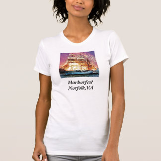 tallship and fireworks, Harborfest Norfolk,VA T-Shirt