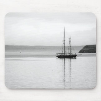 Tallship with reflection at Oban Mouse mat