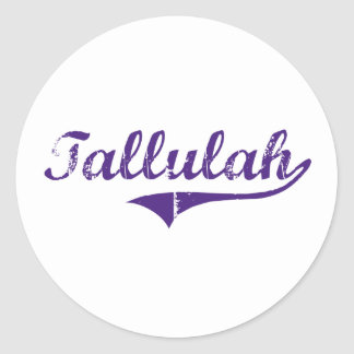 Tallulah Louisiana Classic Design Classic Round Sticker