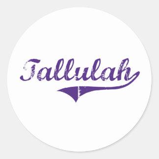 Tallulah Louisiana Classic Design Round Sticker