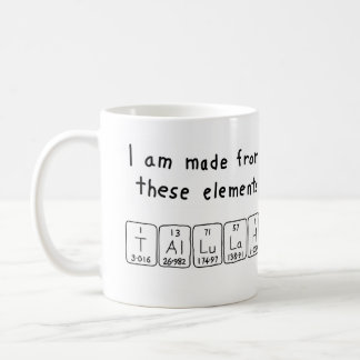 Tallulah periodic table name mug