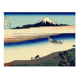 Tama River in Musashi Province (by Hokusai) Postcard