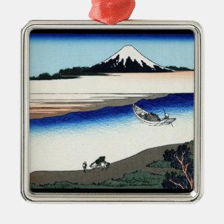 Tama river in the Musashi province Hokusai Christmas Ornament