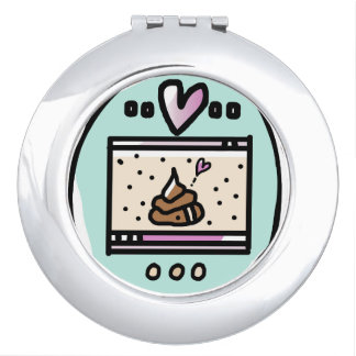 TAMACORGIE. I'M YOUR POOP FAIRY.  COMPACT MIRROR. MIRRORS FOR MAKEUP