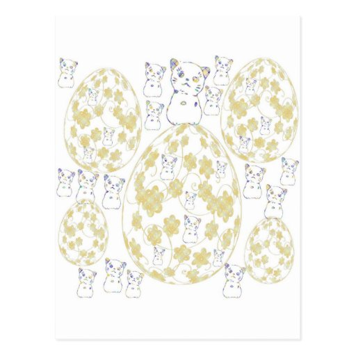 tamago and invitation cat post card