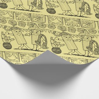 Tamale Festival Line Art Design Wrapping Paper