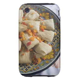 Tamales on decorative plate iPhone 3 tough cover
