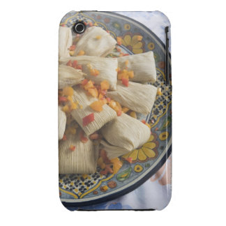 Tamales on decorative plate iPhone 3 cover