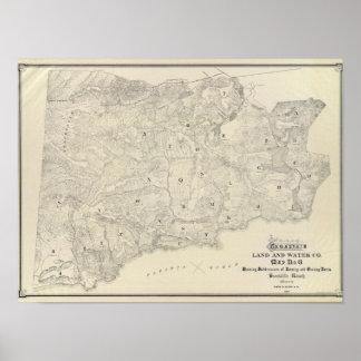 Tamalpais Land and Water Company map Poster