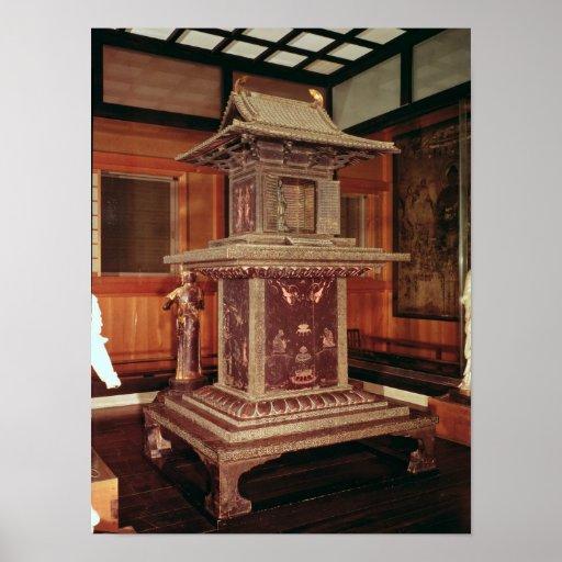 Tamamushi shrine from the Horyu Ji Temple Print