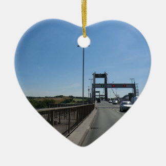 Tamar Bridge - Cornish Border Ceramic Heart Decoration