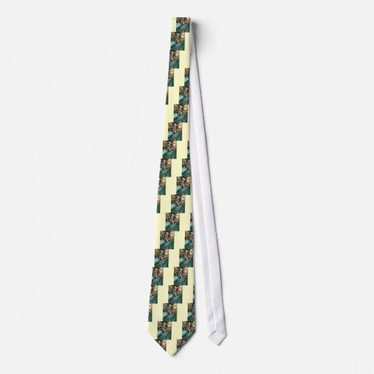 Tamara in her Green Bugatti Tie