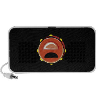 Tambourine Brown Graphic Musicial Instrument Portable Speakers