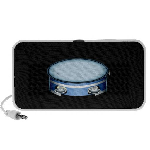 Tambourine Graphic Side View Blue Musicial Design iPhone Speakers