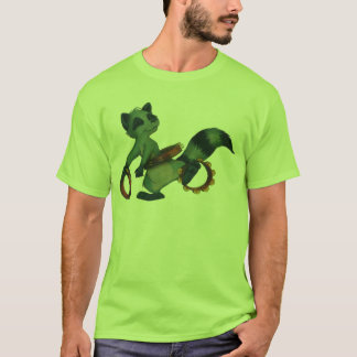 """Tambourine Hula Racoon"" by Suzi German T-Shirt"