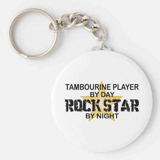Tambourine Rock Star by Night Key Ring