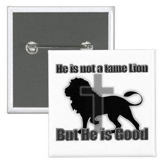 Tame Lion 15 Cm Square Badge