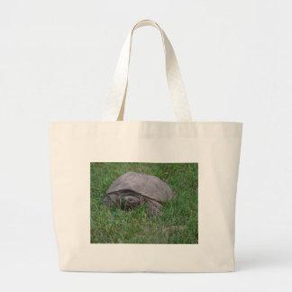 Tame Snapper Turtle Jumbo Tote Bag
