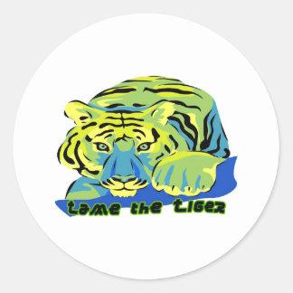 Tame the Tiger2 Classic Round Sticker