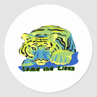 Tame the Tiger2 Round Sticker
