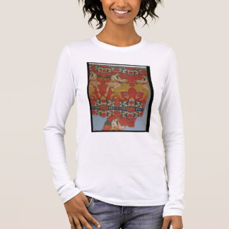 Taming of the Wild Animal, Byzantine tapestry frag Long Sleeve T-Shirt