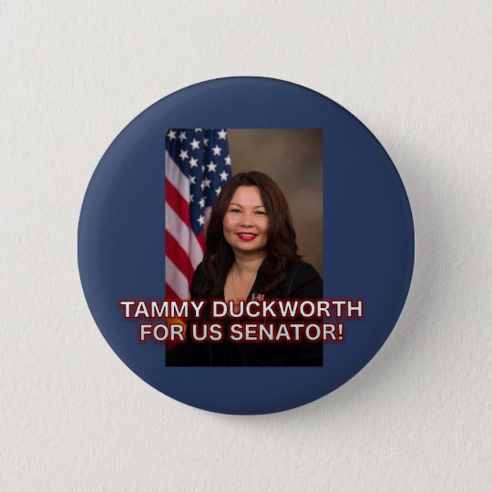 Tammy Duckworth for US Senator Illinois Button