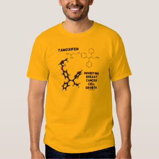 Tamoxifen Inhibiting Breast Cancer Cell Growth T-shirts