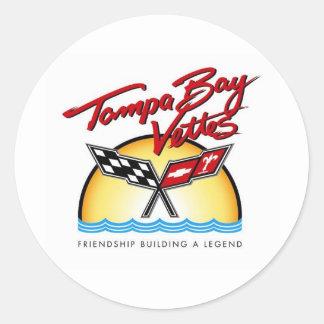 Tampa Bay Corvette Round Sticker