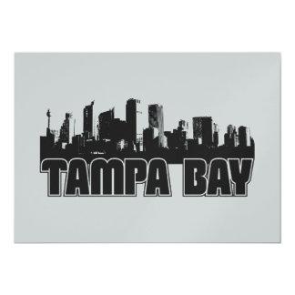 Tampa Bay Skyline 13 Cm X 18 Cm Invitation Card