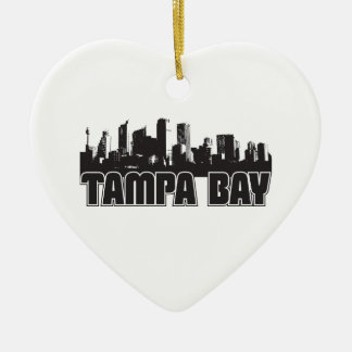Tampa Bay Skyline Christmas Ornament