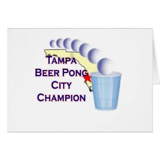 Tampa beer Pong Champion Greeting Card