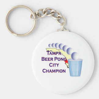 Tampa beer Pong Champion Keychains